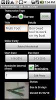 Screenshot of BorrowBuddy