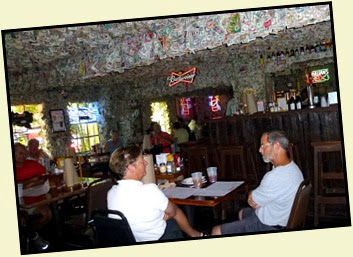 04c6 - Things we did - Big Pine Key lunch at No Name Pub dollar bill covered inside