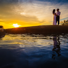 Last Dance by David Cheok - Wedding Bride & Groom ( brunei wedding bride groom sunset,  )