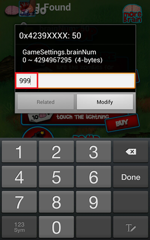 zombie smasher unlimited brain game cheat for android (8)