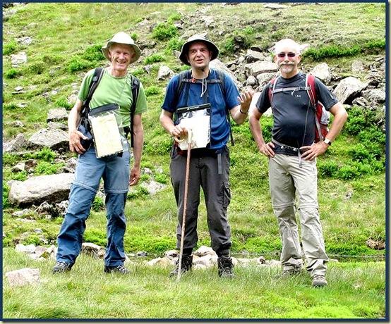 Martin, Stuart and Rick pose at Foxes Tarn