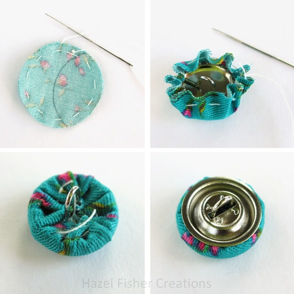 Fabric Cover Button diy tutorial 4