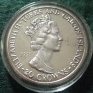 20 Crowns Turks and Caicos Commemorative Coin