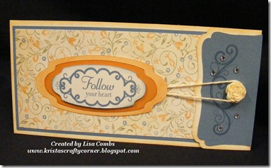 Florentine Swap by Lisa Combs die cut card