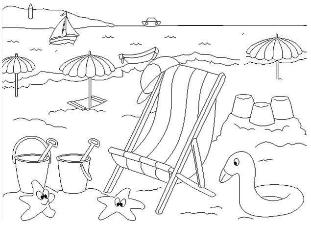 Dibujos Para Colorear El Verano