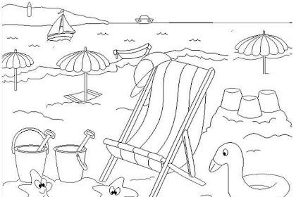 Dibujos Infantiles Para Colorear Del Verano