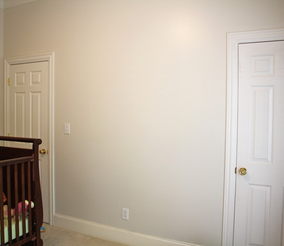 nursery wall for book nook
