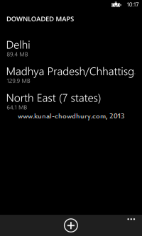 List of all downloaded maps in Windows Phone 8
