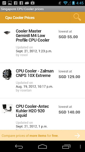 Singapore CPU Cooler prices