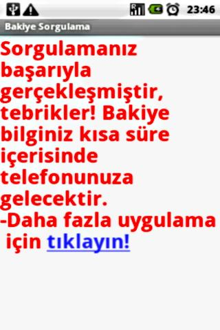 Bakiye Sorgulama - screenshot