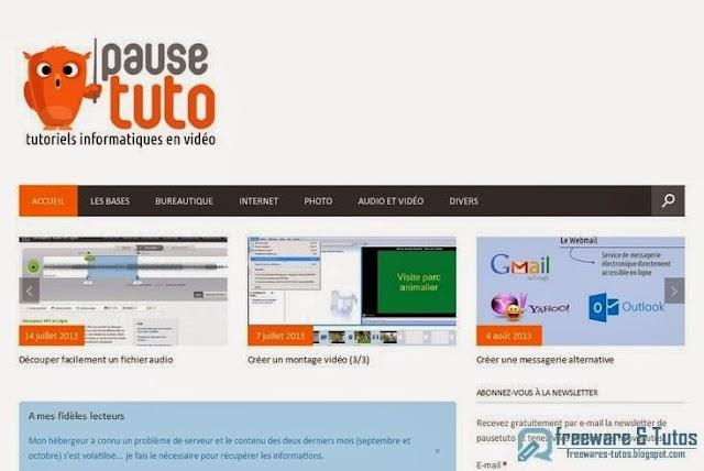 Le site du jour : PauseTuto, notre nouveau partenaire
