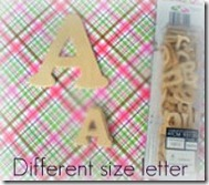 Different Size Letter