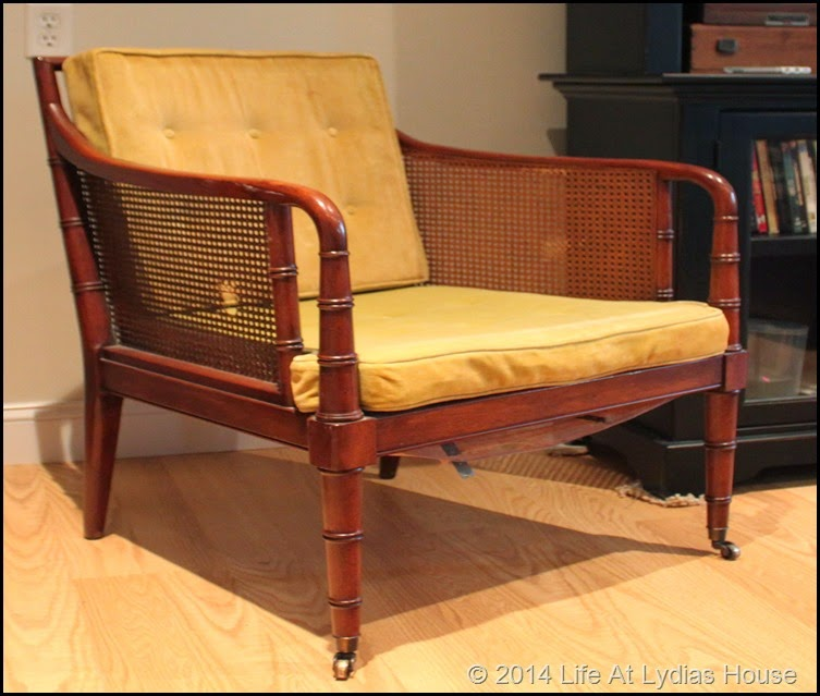 rescued cane chair before