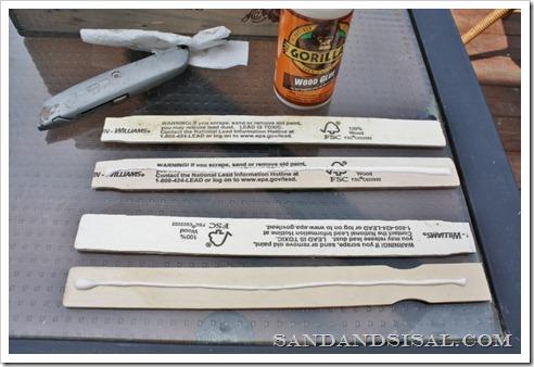 glue paint sticks together