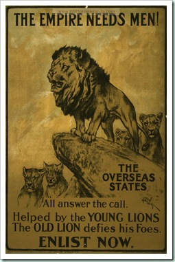 old lion young lion war poster