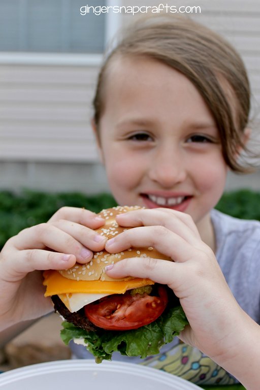 happy burger eater ha! #saycheeseburger #spon