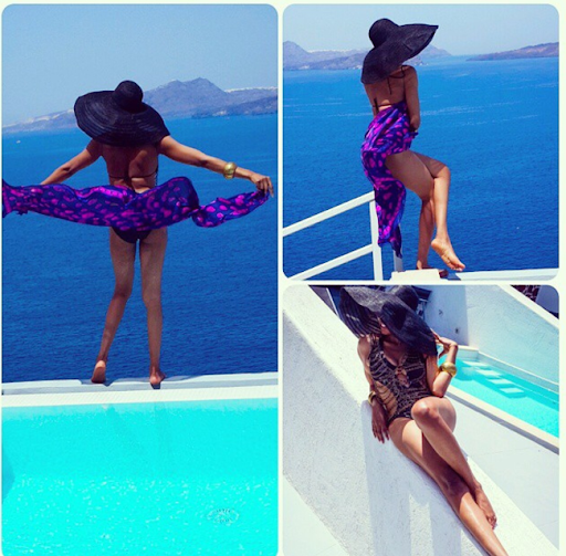 PHOTOS: Sylvia Nduka And Ene Maya's Vacation in Santorini Greece 8