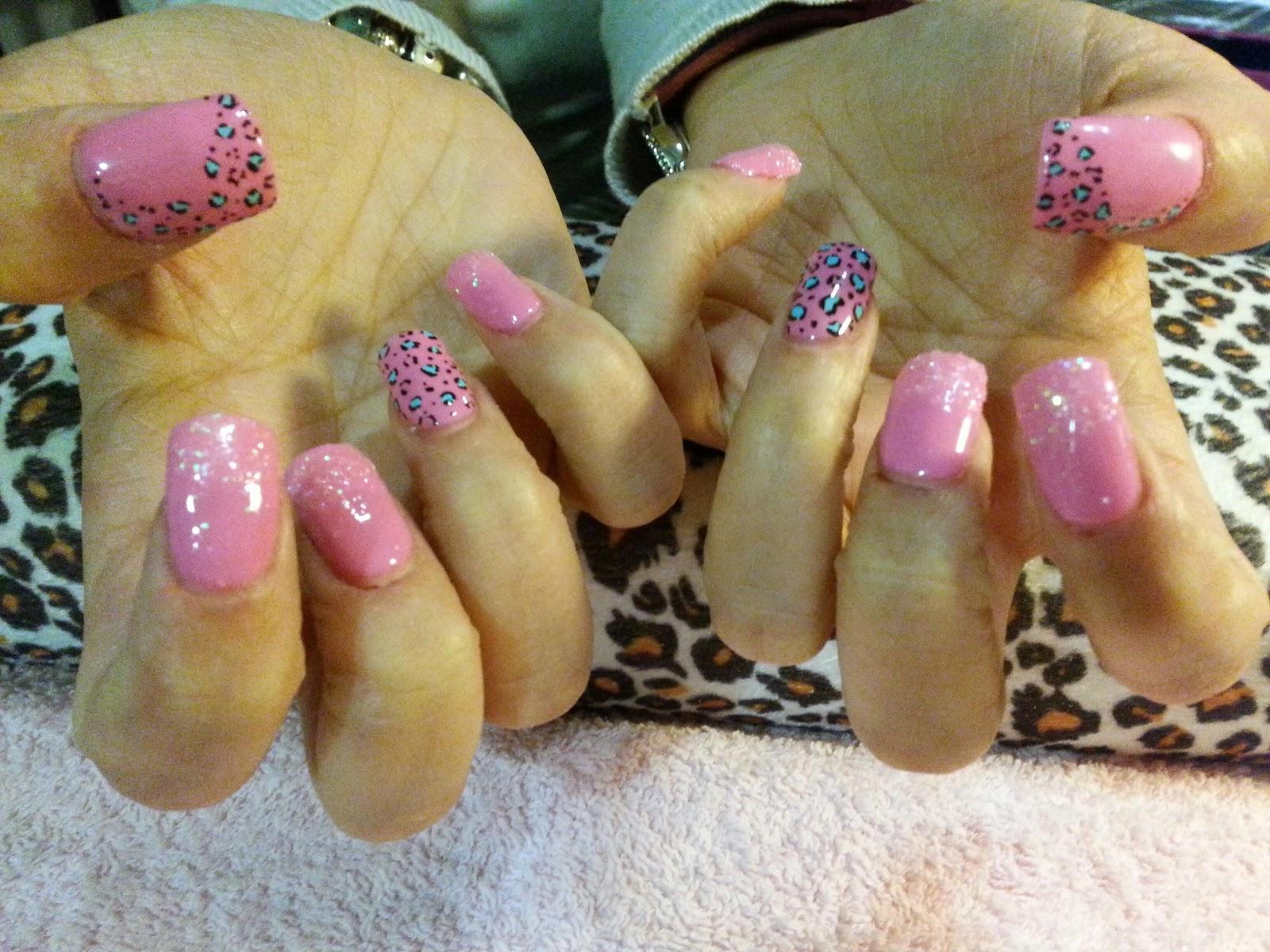 New Soul Shine Nails Porcelana Rosa Y Leopardo