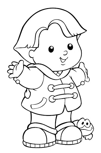 fisher price little people coloring pages   Fisher Price Number Coloring Pages And Shapes Coloring Pages