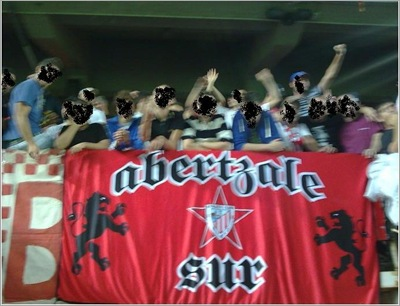 Basque Soccer Supporters with Nazi symbols