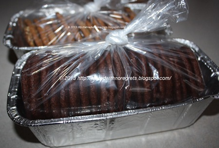 Orange Scented Double Dark Chocolate Cookies - packaged B