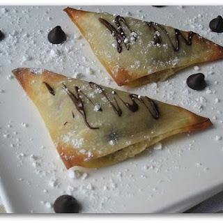 Chocolate Chip Cookie Dough Dessert Wontons.