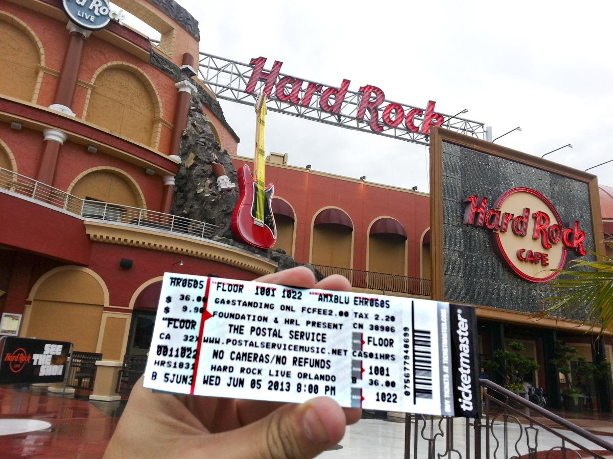 Hectoradventures The Postal Service Hard Rock Live