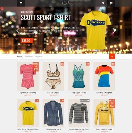 SpotCommerce Shopping - Template bán hàng