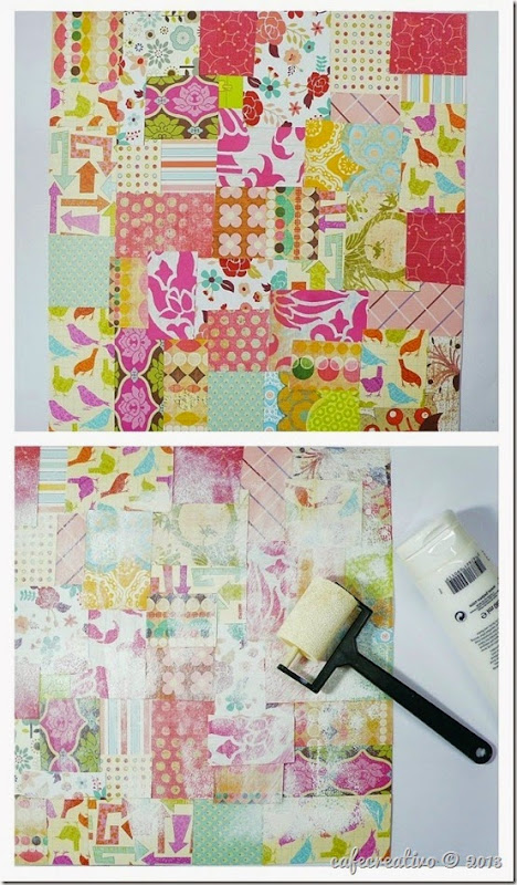 cafe creativo - AnnaDrai - scrapbooking - Vintage journal minia album - tutorial (3)