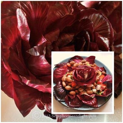 Contorno con radicchio di Gorizia,fagioli borlotti ,verza e peperoni