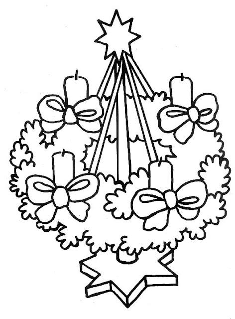 coronas de navidad para colorear