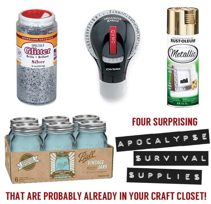 Four Surprising Apocalypse Survival Supplies That Are Probably Already In Your Craft Closet | The Gathered Home #bunkersweetbunker