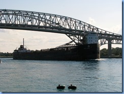 3659 Ontario Sarnia - Blue Water Bridge over St Clair River - John D. Leitch lake freighter