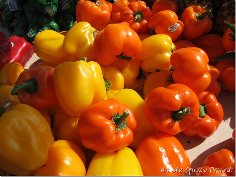 Orange, Yellow, Red Bell Peppers