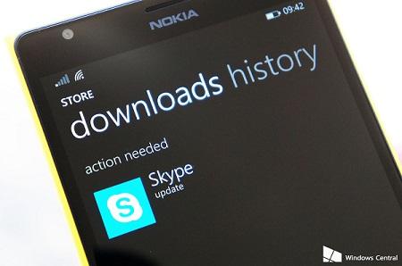 Skype cho Windows Phone 8.1 có cập nhật