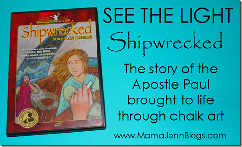 SEE THE LIGHT: Shipwrecked Art DVD Lesson about the Apostle Paul