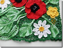 irish crochet poppy top how to 5