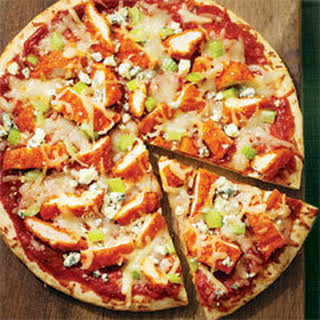 Grilled Buffalo Chicken Pizza.