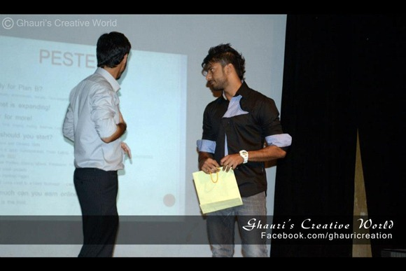 Host Naveed being Gifted