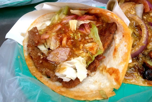 Milanesa Tacos at Tacos Aaron
