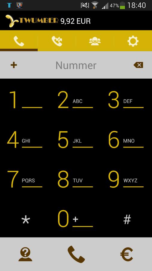 TWUMBER - screenshot