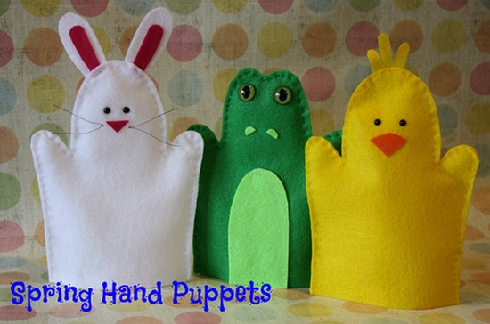 Handmade Easter Hand Puppets #diy #easter #craft