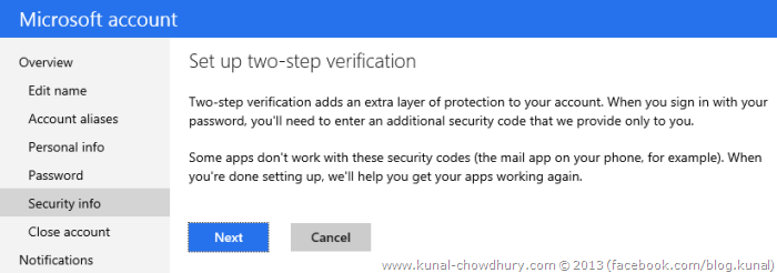 2. Set up two-step verification
