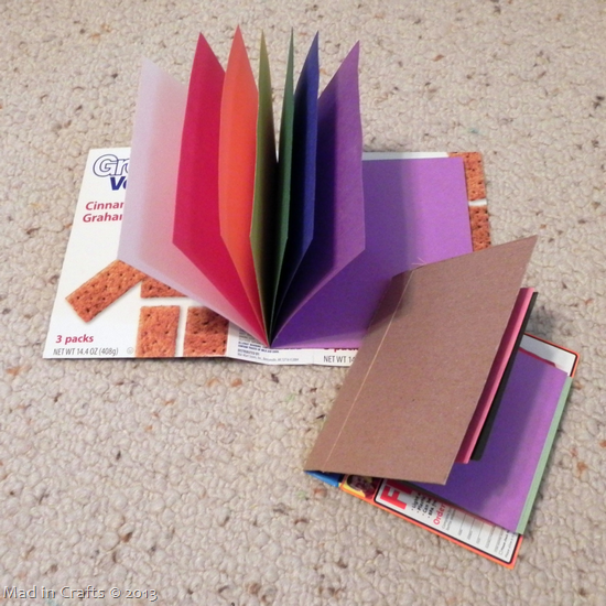 bound journals from recycled cardboard