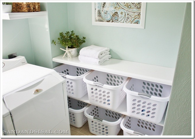 laundry basket sorting station