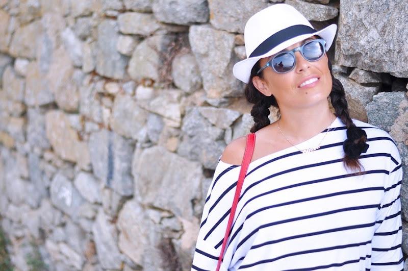 outfit, corsica, summer 2013, italian fashion bloggers, maglia a righe, loungette  fashion bloggers, street style, zagufashion, valentina coco, i migliori fashion blogger italiani