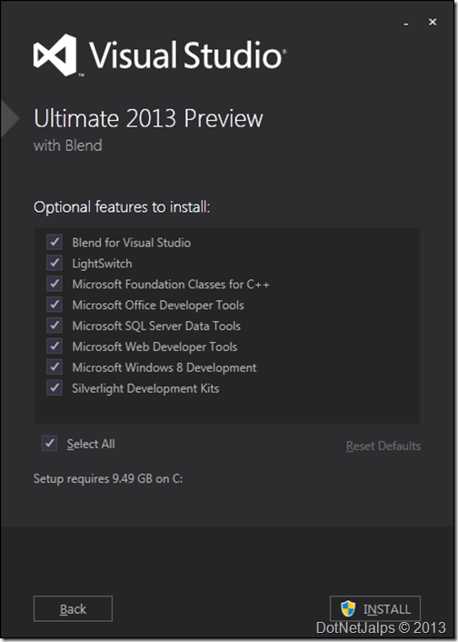 VisualStudio2013InstallationStep2