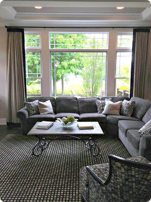 large grey sectional