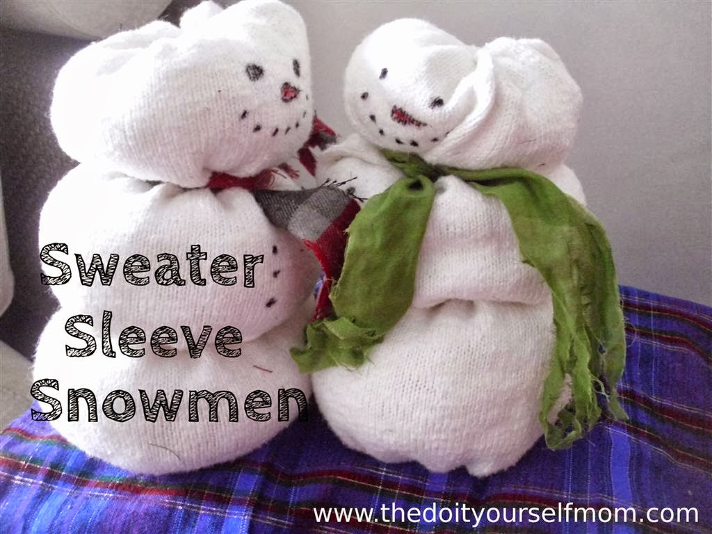 The Do It Yourself Mom Diy Sweater Sleeve Snowman