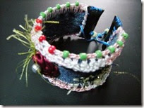 Recycle denim bracelet 08